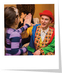 two cheerful clowns birthday children bright stock photo new york clowns hire a clown clowns
