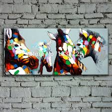 aliexpress com buy bright colored oil paintings abstract horse