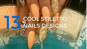 13 cool stiletto nails designs youtube