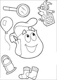 166 dora coloring pages images pre