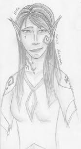 elf sketch of boredom by nephilimist on deviantart