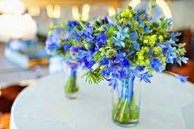 blue wedding flowers green and blue wedding theme flowers http refreshrose