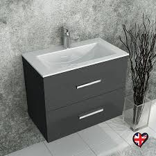 Vanity Basins Online Sonix Grey Wall Hung 610 Unit 2 Drawers Ceramic Basin Buy Online