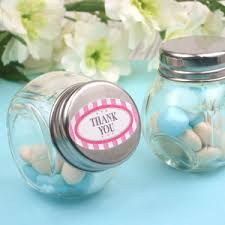 jar favors mini glass candy jar favor set of 9 favor bottles and tins