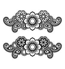 mehndi indian henna tattoo heart seamless pattern vector image