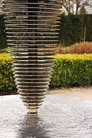 modern water feature modern water feature stock image image of steel shiny 5555783