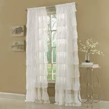White Ruffle Curtain Panels Other Kids Curtains Kids White Ruffle Curtain Panels 63inch