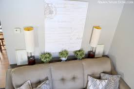 table that goes behind couch behind the couch table shavanovic homes