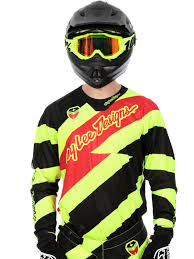 troy lee motocross helmets troy lee designs fluorescent black 2016 se caution mx jersey