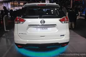 nissan trail 2016 nissan x trail hybrid rear at auto expo 2016 indian autos blog
