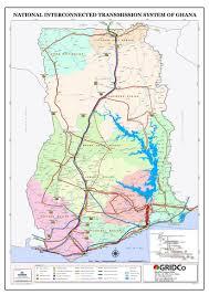 Map Of Ghana Gridco National Grid