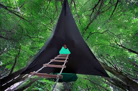camping in a floating hammock tent yes please off grid world