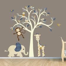 baby boy room decor stickers techethe com monkey wall decal jungle animal tree decal nursery wall decals elephant giraffe monkey wall decal kids