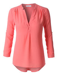 flowy blouses le3no womens flowy sleeve semi sheer chiffon blouse top