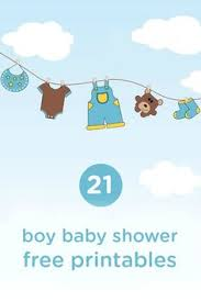 free blue baby shower printable templates free baby shower