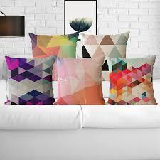 set of 4 geometric modern cushion pillow cover sofa pillowcase