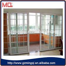 soundproof glass sliding doors grill design pvc interior door soundproof transparent glass