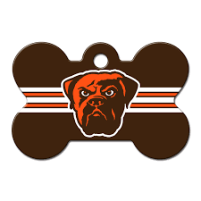 quick tag cleveland browns nfl bone personalized engraved pet id