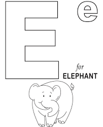 elephant coloring pages printables elephant alphabet coloring