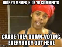 Voting Memes - hide yo memes hide yo comments cause they down voting everybody