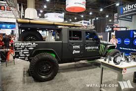 baja jeep cherokee 2017 sema baja designs jeep jk wrangler crew cab pickup truck