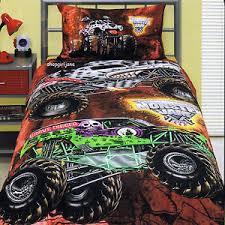 Truck Bedding Sets Jam Trucks Grave Digger Mutt Maximum D Bed Quilt