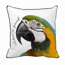 in yourself parrot print custom birds style white chair bed