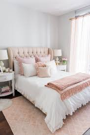 Pink Bed Frames My Chicago Bedroom Parisian Chic Blush Pink White Ruffle