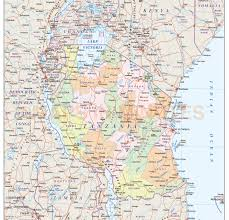 Map Of Tanzania Tanzania Digital Vector Political Map With Internal Divisions