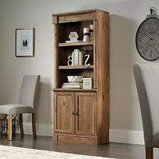 oak bookcases home office furniture the home depot
