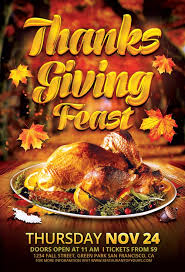 thanksgiving feast flyer template for photoshop and thanksgiving