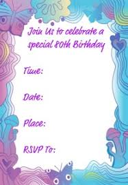 birthday invitation template 80th birthday invitation templates