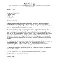 technical sales manager cover letter