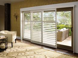 kitchen plantation shutters for sliding glass patio doors window