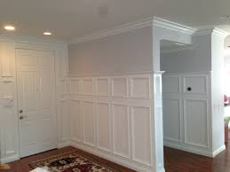 interior lowes wainscoting with ceiling light and wooden floor