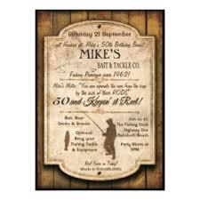 50th birthday fishing invitations u0026 announcements zazzle