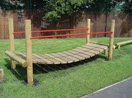 a wooden wobbly bridge from esp barlowe u0027s natural playscape