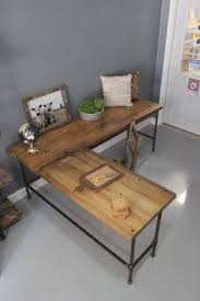 Reclaimed Wood Executive Desk Wood L Shaped Desk Foter