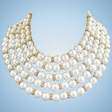 pearl necklace accessories images Marvella 5 strand white faux pearl necklace and bracelet set jpg
