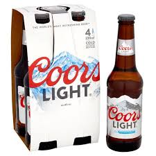 how much sugar in coors light coors light 4 x 330ml from ocado