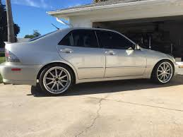 white lexus is300 slammed used parts one click vip modular vr05 19