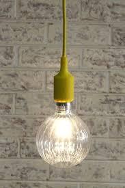 Coloured Cord Pendant Lights New Coloured Cord Pendant Lights Led Waterfall Bulb With Pendant