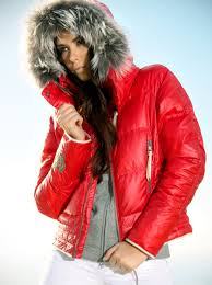 kelly julia women s stunning red down ski jacket ski fashion