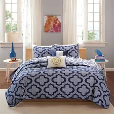 Geometric Coverlet Modern Design Navy Blue Coverlet Hq Home Decor Ideas
