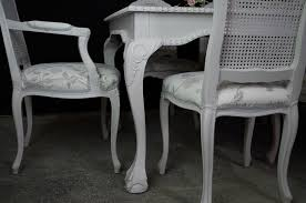 Bergere Dining Chairs Large Vintage Carved Edge Dining Table 8 Bergere Style Chairs