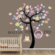 stickers chambre bébé arbre stickers muraux enfant arbre et hibou achat vente stickers