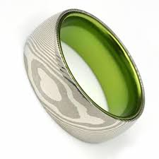 damascus steel rings wedding bands free us shipping manly bands