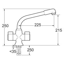 ENKI Kitchen Sink Mixer Water Tap Low Pressure Chrome Steel - Kitchen sink water pressure