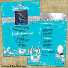 turquoise princess quinceanera invitations princess quinceanera