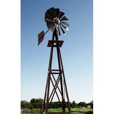 decorative bronze powder coated metal backyard windmill outdoor